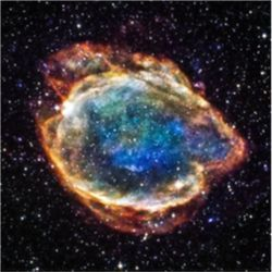 Remnant of Type 1A supernova