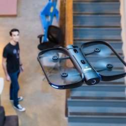 A drone that can follow a person without human interaction uses widely available parts and open-source software.