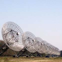 A portion of the Westerbork Synthesis Radio Telescope.