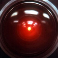 Eye of HAL-9000 computer
