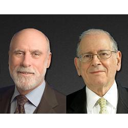 ACM past president Vint Cerf (left) and Robert Kahn, chairman of the non-profit Corporation for National Research Initiatives.