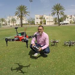 Mohamed Abdelkader is one of the researchers that developed an algorithm enabling a team of unmanned aerial vehicles to work together in real time.