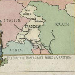An old map showing the Princely County of Gorizia and Gradisca.