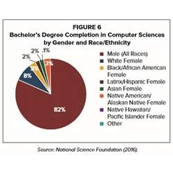 A National Science Foundation breakdown of bachelor degree completions in computer science.