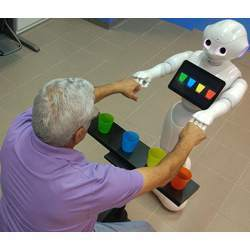 Physical therapy with a socially assistive robot.