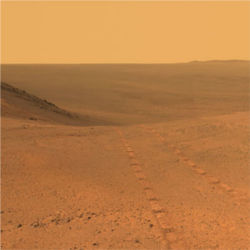 Outside Endeavor Crater, Mars