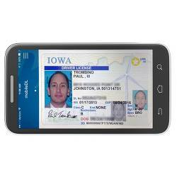 A prototype digital driver's license.