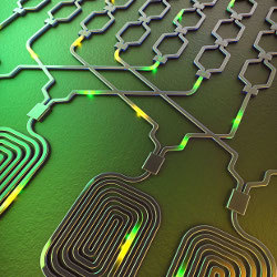 photonic chip, illustration