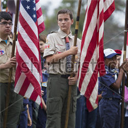 Boy Scouts, flags