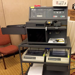 The Election Systems & Software Model 650 Central Scanner & Tabulator.