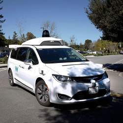 One of Waymo's autonomous vehicles.