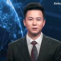 "China's first ""AI news anchor."""