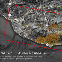 Damage proxy maps, Calif. fires