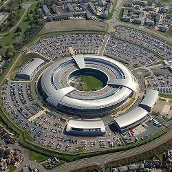 The U.K. Government Communications Headquarters, or GCHQ.