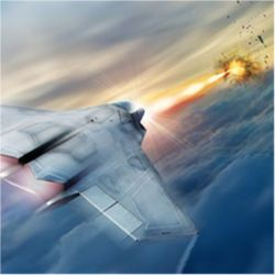 High-energy laser on fighter jet