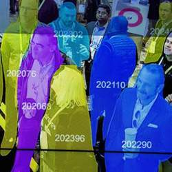 A demonstration of artificial intelligence and facial recognition during CES 2019 in Las Vegas last week.