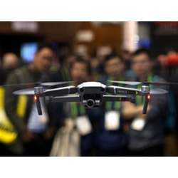 A drones on display at the Consumer Electronics Show in Las Vegas earlier this month.