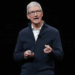 Apple CEO Tim Cook said Apple's business model is better than competitors' because it sells devices instead of advertising.