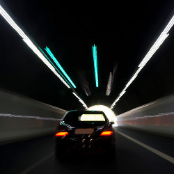 car in tunnel