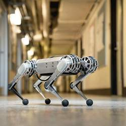 The mini cheetah robot weighs in at just 20 pounds.