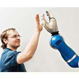 A variety of sensors, combined with training, help cobots interact with people safely.