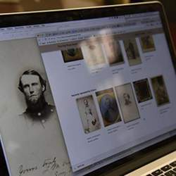 The software uses crowdsourcing and facial recognition to identify unknown subjects in Civil War-era photographs.