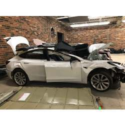 Security researchers bought this wrecked Tesla Model 3 to evaluate the data in the cars computers after a crash.