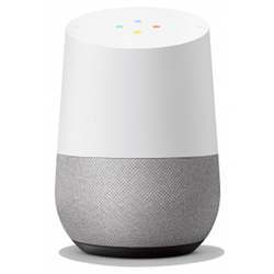 A Google Home smart speaker equipped with Google Assistant, sold by Walmart.