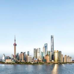 The financial district of Shanghai, China's biggest city and a financial hub.