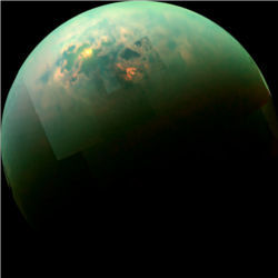 Titan polar seas