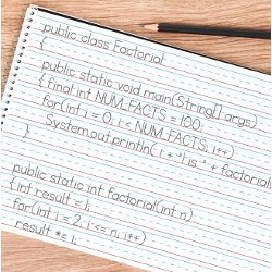 'public class factorial' notes