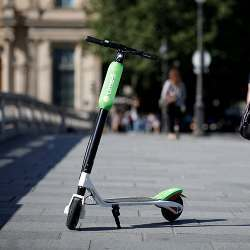 A Lime scooter.