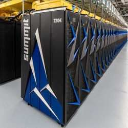 The Summit supercomputer, currently the world's fastest.
