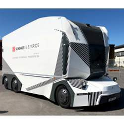 One of Eineride's driverless electric trucks.