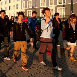 Chinese university students in Wales