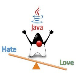 Java on love-hate seesaw