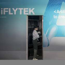 The iFlytek booth the 2019 CES Asia Show in Shanghai earlier this month.