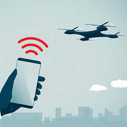 The new system uses smartphones to detect the Wi-Fi signals of drones.