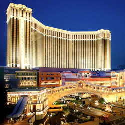 The Venetian Macao in the Chinese city of Macau is the world's largest casino.