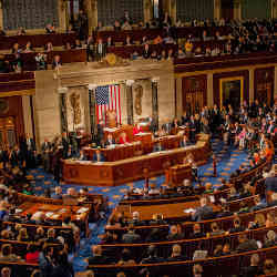The U.S. House of Representatives in session.