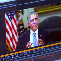 A fake video featuring former president Barack Obama.