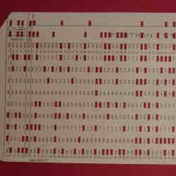 Part of an IBM 1130 punch card.