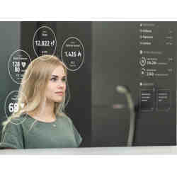 Smart mirrors serve as both mirror and media hub.