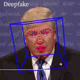 Detecting a deepfake video of U.S. president Trump.