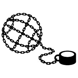 globe-shaped shackles