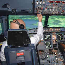 An eye-tracking system keeps track of where the pilot is looking.