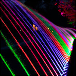 bands of colored light