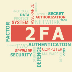 two-factor authentication word cloud