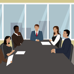 diverse board of directors, illustration