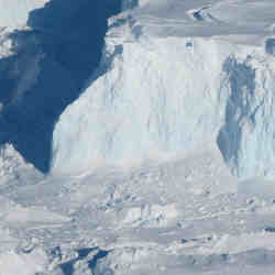 The Thwaites Antarctic Glacier.